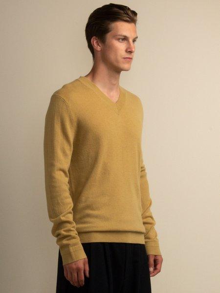 PURECASHMERE NYC V Neck Sweater - Golden Leaf