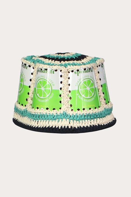Anna Sui Recycled Crochet Hat - Lime