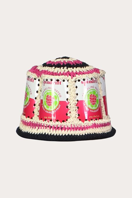 Anna Sui Recycled Crochet Hat - Raspberry