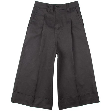Naked & Famous Stretch Twill Chino Culottes - Black