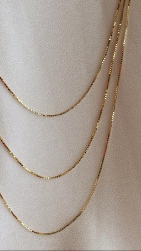 Enti Ana Taylor 3 Strand Box Chain Necklace - 14K Gold Vermeil