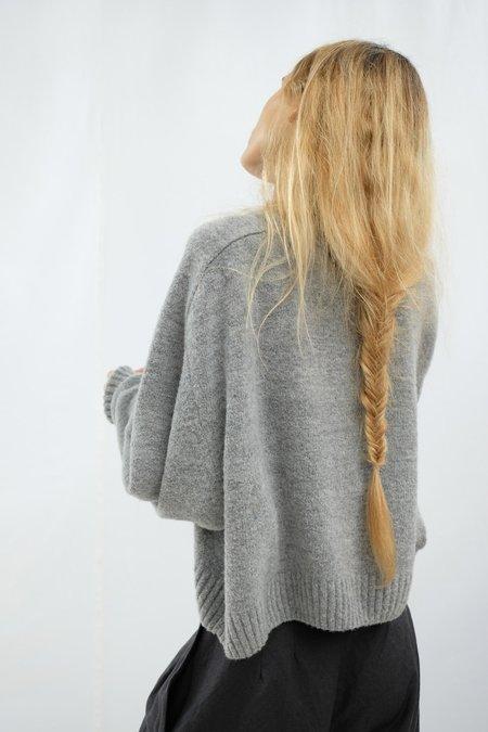 Micaela Greg Speckle Boucle Sweater - Heather Grey