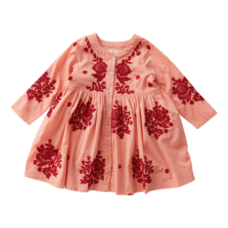 kids Pink Chicken Jocelyn Dress - Coral