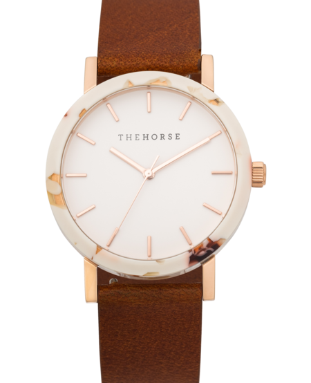 The Horse Watch - Caramel/Rose Gold/Tan Leather
