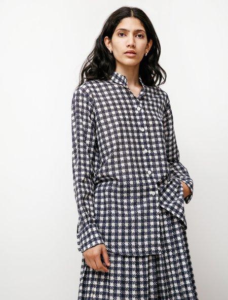 Sara Lanzi Oversize Shirt - Blue Check
