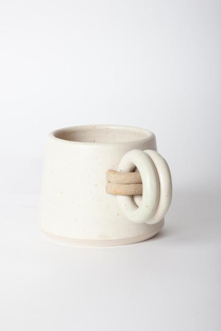 Jan Schachter Loop Handle Mug - White Ash