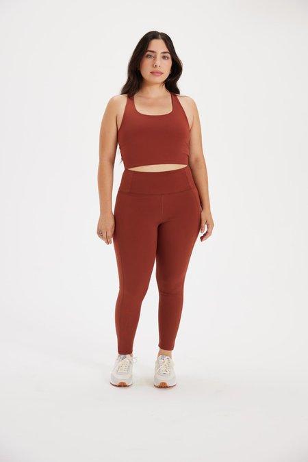 Girlfriend Collective Sedona High Rise Compressive Legging - Brown