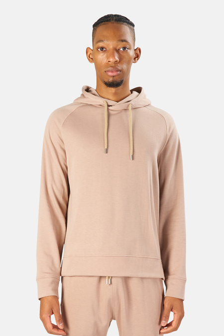 Blue&Cream Mason Pullover Hoodie Sweater - Soft Taupe