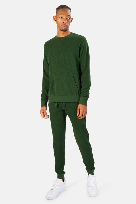 04651/ 04651 Terry Turtleneck Sweater - Olive