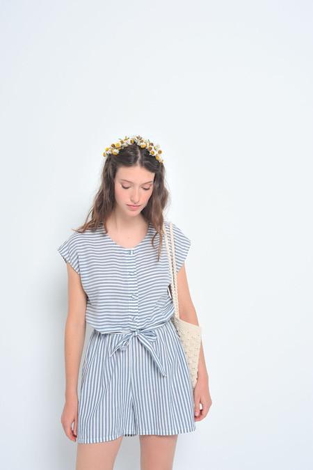 Des Petits Hauts | Elma Striped Cotton Romper