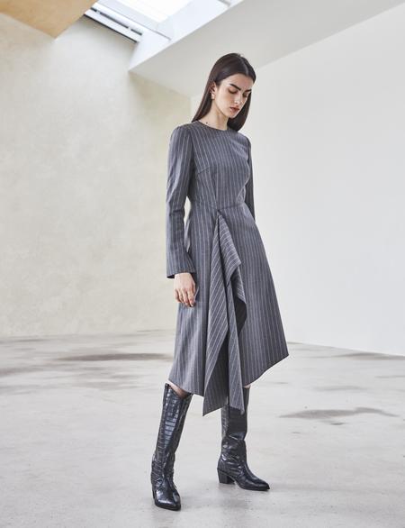 Maison De Ines FRONT SHIRRING DRESS - gray