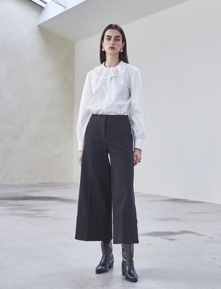 Maison De Ines OXFORD WIDE PANTS - black