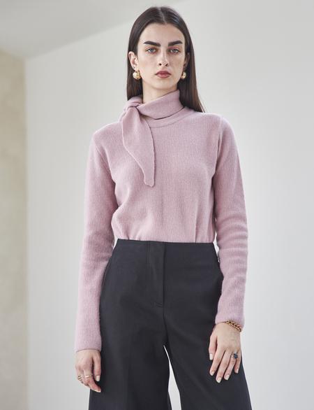 Maison De Ines MUFFLER SWEATER - pink