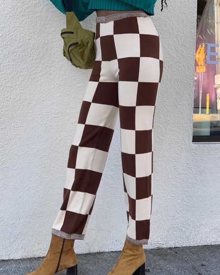 Find Me Now Presley Pants - White/Brown