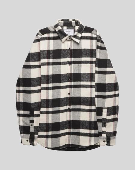 Portuguese Flannel Bonefire Shirt - Black/White