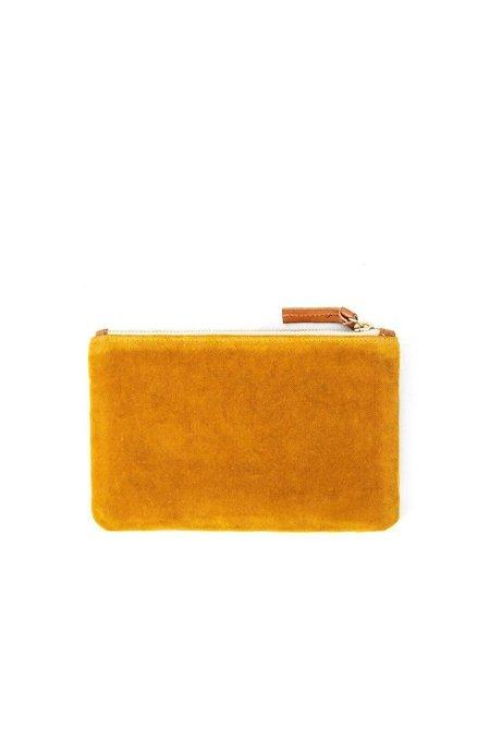 Clare V. Cotton Velvet Wallet Clutch - Goldenrod