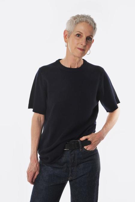 Unisex Extreme Cashmere Tshirt - Navy