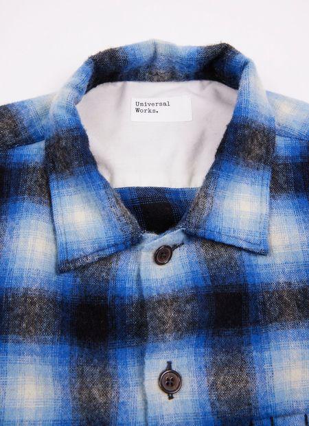 Universal Works L/s Utility Shirt - Blue Check