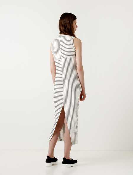 MM6 by Maison Margiela Striped Sleeveless Dress