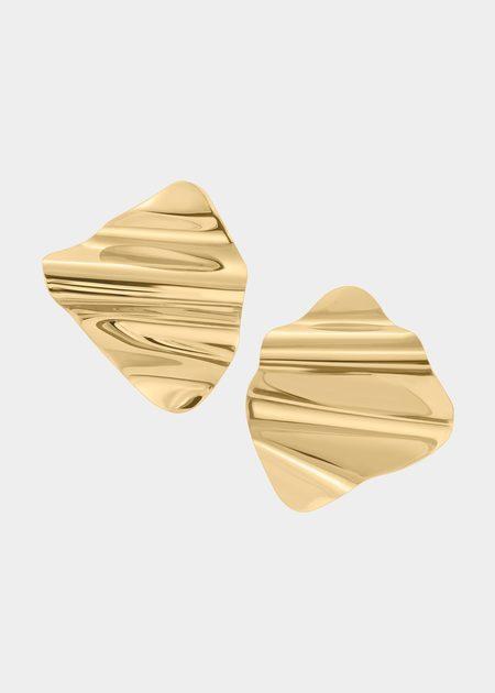 Modern Weaving Wave Architect Earrings
