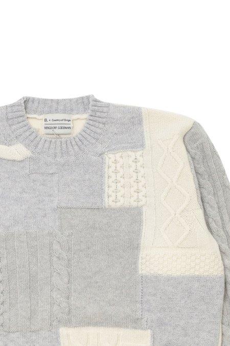 Country of Origin X Bergdorf Goodman #4 sweater - Gray/Cream