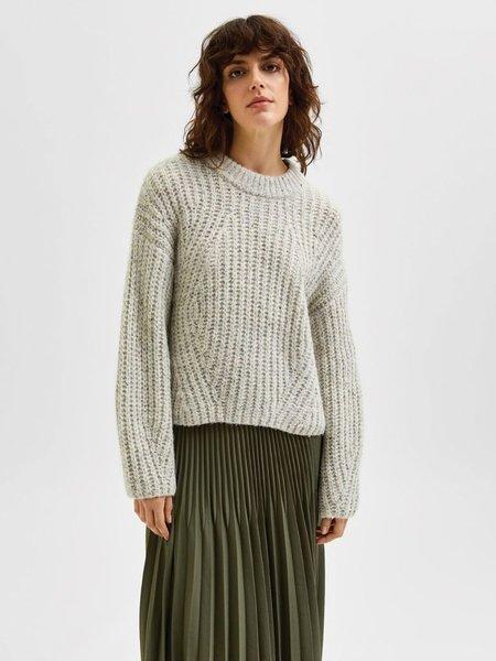 Selected Femme Cara Sweater - Birch Melange