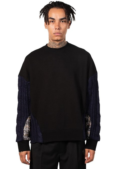 ANDERSSON BELL Fabric Contrast Antwerp Sweatshirt - black