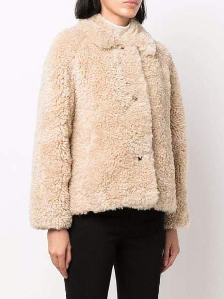 Rag & Bone Hesper Faux Fur Jacket - Beige