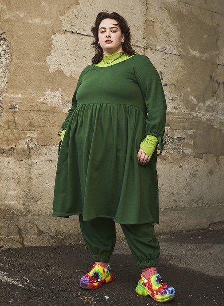 Eliza Faulkner Stay Home Dress - Hunter Green