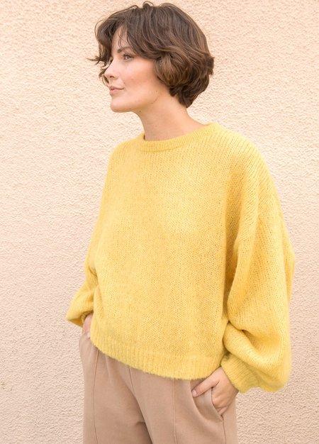 Atelier Delphine Balloon Sleeve Sweater - Mustard