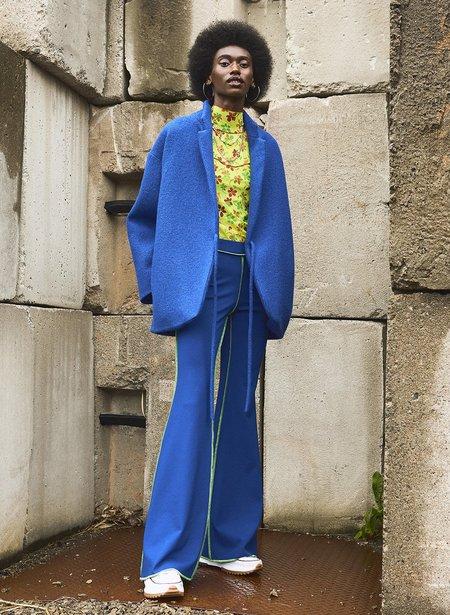 Eliza Faulkner JoJo Flare Leggings - Electric Blue/Lime Green