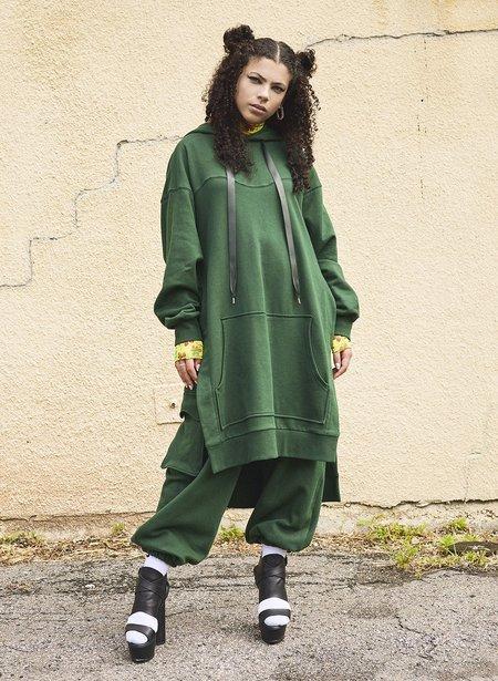 Eliza Faulkner Wave Hoodie - Hunter Green