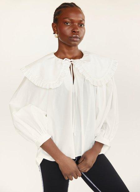 Eliza Faulkner Long Sleeve Sawyer Top - White