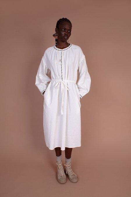 Meadows Hazel Linen Dress - White