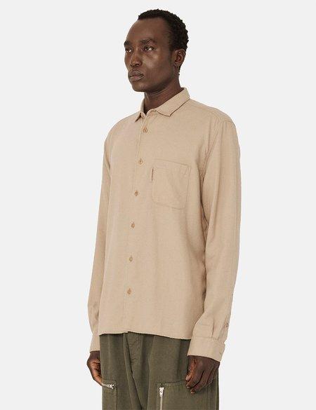 YMC Brushed Twill Curtis Shirt - Camel Brown