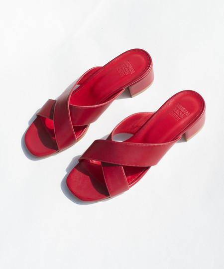 Maryam Nassir Zadeh Red Calf Lauren Slide