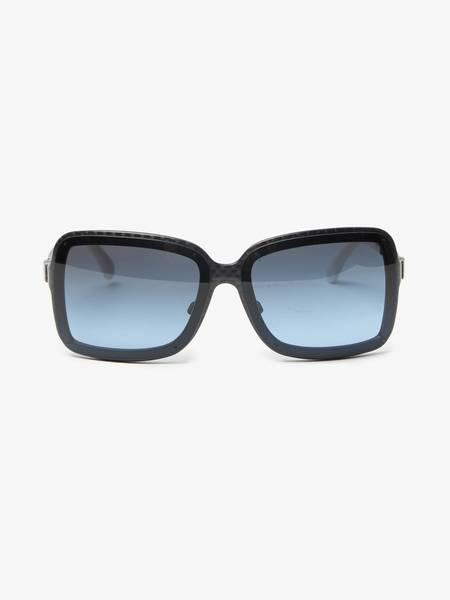 PRE-LOVED Chanel U Checkered Chanel Sunglasses - BLUE