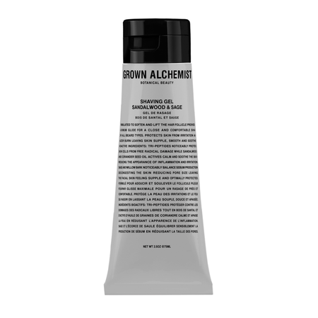 Grown Alchemist Shaving Gel: Sandalwood and Sage 75mL