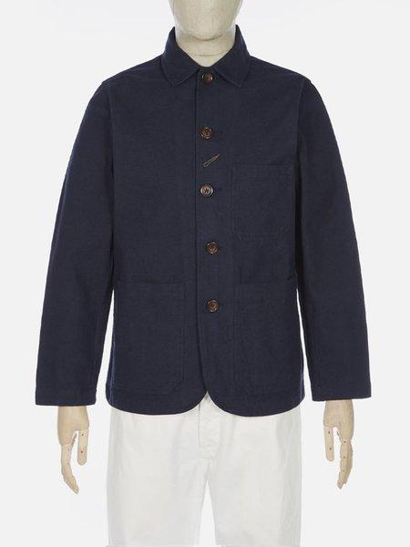 Universal Works Bakers Nebraska Cotton Chore Jacket - Navy