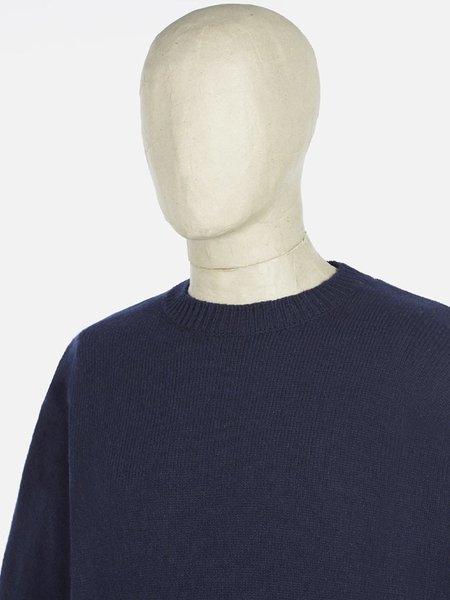 Universal Works Loose Crew Sweater - Navy