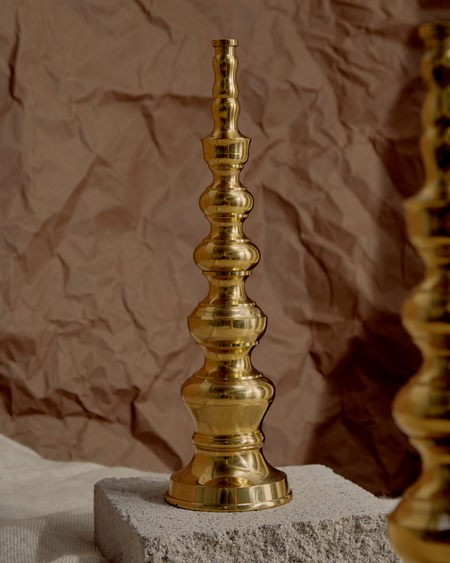 Vintage CANDLE HOLDERS - brass