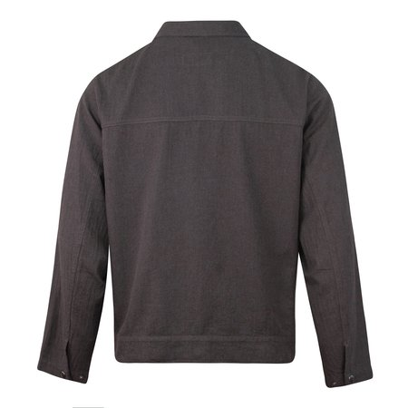 Universal Works Post Herringbone Cotton Jacket - Charcoal