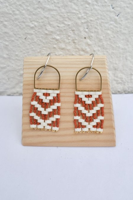 Three Sisters by Emma Michif Danglers EARRONGS - Terracotta Red