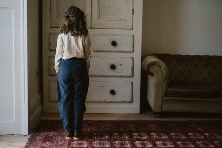 Kids Little Cotton Clothes Rye Trousers -  Winter Blue Velvet
