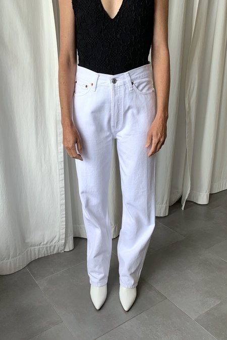 RE/DONE 90s High Rise Loose Jeans - White