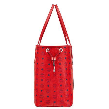 MCM Reversible Liz Shopper In Visetos - Candy Red