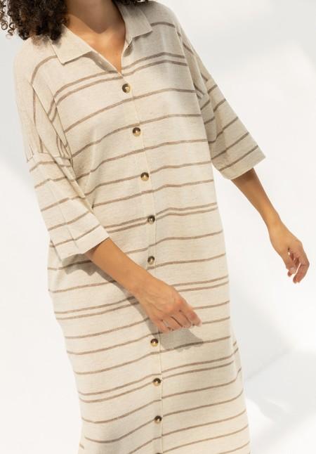 Lauren Manoogian Banded Shirt Dress - Oak Flax