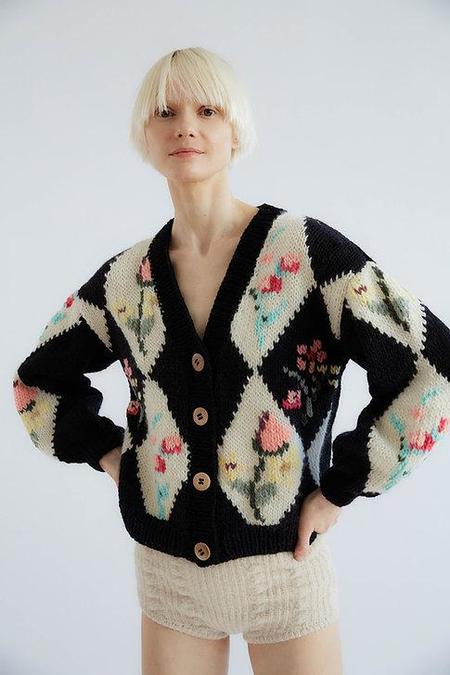 Tach Clothing Tampa Wool Cardigan - Black/White