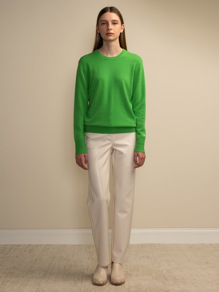PURECASHMERE NYC Classic Crew Neck Sweater - Green