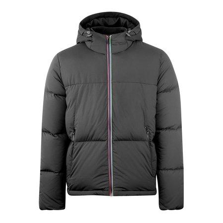 Paul Smith Hooded Stripe Down Jacket - Black
